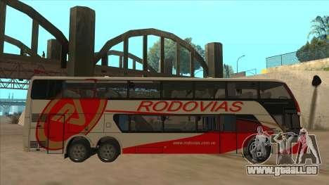 Marcopolo DD800 v3 pour GTA San Andreas sur la vue arrière gauche