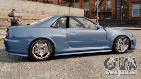 Nissan Skyline R34 GT-R Z-tune für GTA 4 linke Ansicht