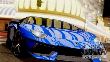 Lamborghini Aventador LP760-2 2013 pour GTA San Andreas vue intérieure