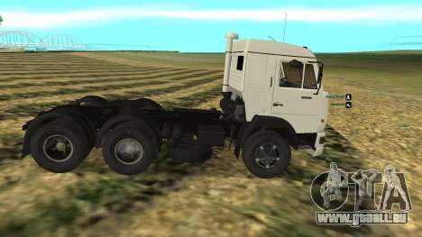 KAMAZ-54112 pour GTA San Andreas laissé vue