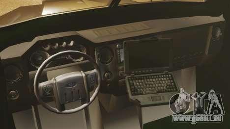 LENCO Bearcat blindée LSPD GTA V pour GTA 4 est une vue de l'intérieur