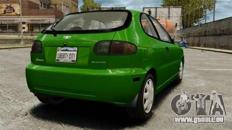 Daewoo Lanos FL 2001 US pour GTA 4 est un droit