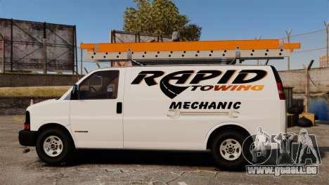 GMC Savana 2500 Rapid Towing Mechanic pour GTA 4 est une gauche