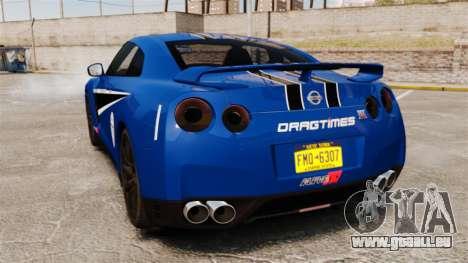 Nissan GT-R 2012 Black Edition AMS Alpha 12 für GTA 4 rechte Ansicht