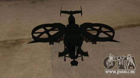 AT-99 Scorpion Gunship from Avatar für GTA San Andreas Innenansicht