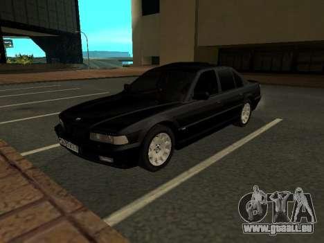 BMW 740I pour GTA San Andreas laissé vue