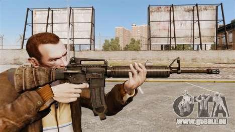 Un fusil d'assaut américain M16A4 pour GTA 4