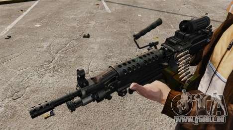 Mitrailleuse légère M249 SAW pour GTA 4 quatrième écran