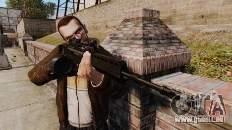Fusil d'assaut H & K MG36 v4 pour GTA 4 troisième écran