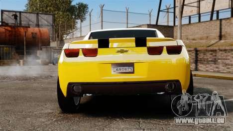 Chevrolet Camaro Bumblebee pour GTA 4 Vue arrière de la gauche