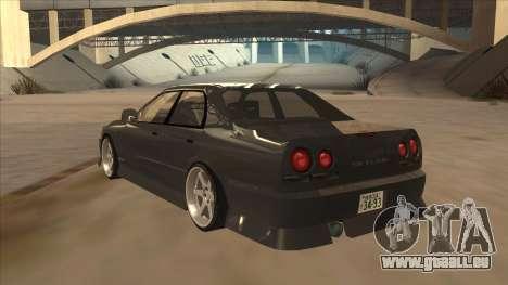Nissan Skyline ER34 Street Style für GTA San Andreas Rückansicht