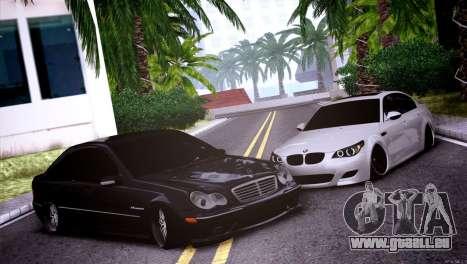 Mercedes-Benz C32 AMG pour GTA San Andreas vue intérieure