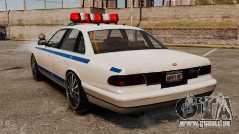 Polizei auf ein 20-Zoll-Laufwerken für GTA 4 hinten links Ansicht