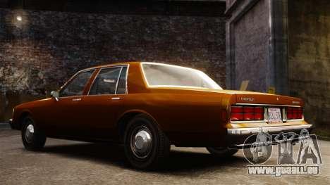 Chevrolet Caprice 1989 für GTA 4 Innenansicht