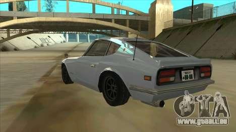 Nissan Fairlady S30Z pour GTA San Andreas vue arrière
