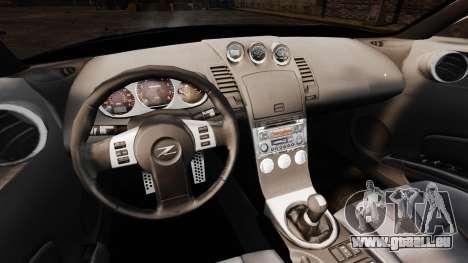 Nissan 350Z Tuning pour GTA 4 est une vue de l'intérieur