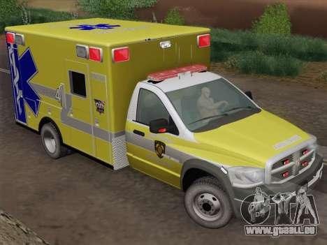 Dodge Ram Ambulance BCFD Paramedic 100 pour GTA San Andreas vue arrière