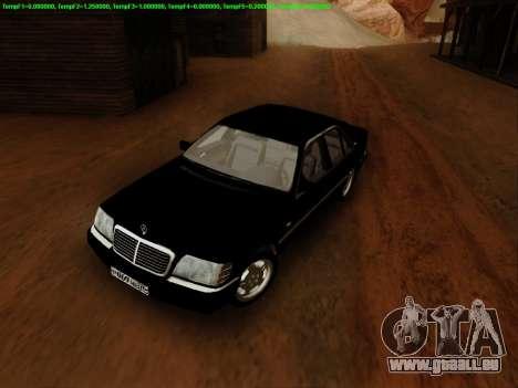 Mercedes-Benz W140 pour GTA San Andreas vue de droite