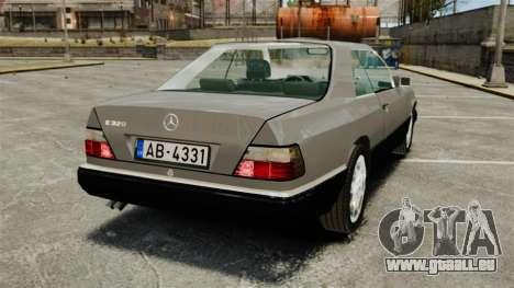 Mercedes-Benz W124 Coupe für GTA 4 hinten links Ansicht