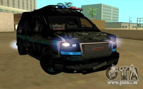 GMC Savana AWD FSB pour GTA San Andreas vue de droite