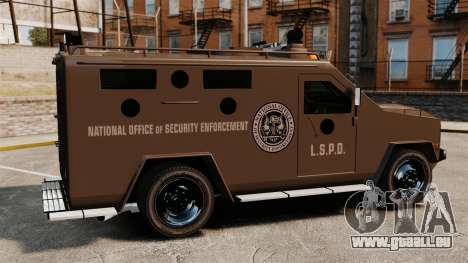 LENCO Bearcat blindée LSPD GTA V pour GTA 4 est une gauche
