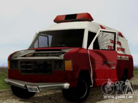 Vapid Ambulance 1986 pour GTA San Andreas vue intérieure
