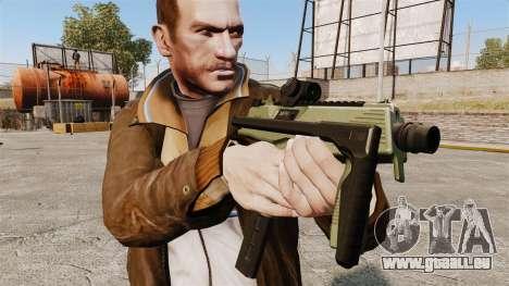MP9 Maschinenpistole taktische v2 für GTA 4 dritte Screenshot