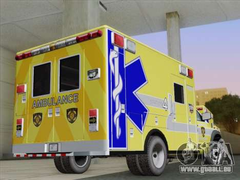 Dodge Ram Ambulance BCFD Paramedic 100 pour GTA San Andreas vue de droite