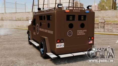 LENCO Bearcat blindée LSPD GTA V pour GTA 4 Vue arrière de la gauche