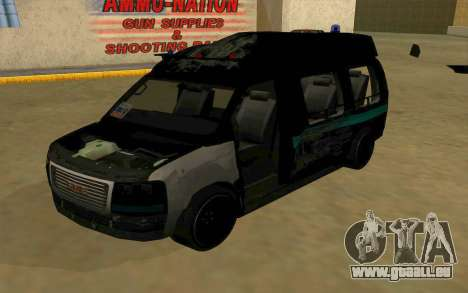 GMC Savana AWD FSB pour GTA San Andreas vue de côté
