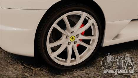 Ferrari F430 Scuderia 2007 Italian für GTA 4 Rückansicht