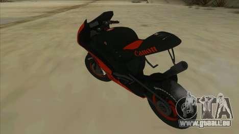 RP Motorsport Yamaha M1 für GTA San Andreas zurück linke Ansicht
