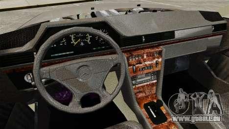 Mercedes-Benz W124 Coupe pour GTA 4 est une vue de l'intérieur