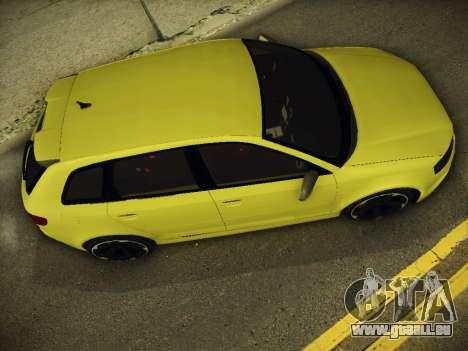 Audi RS3 2013 für GTA San Andreas zurück linke Ansicht