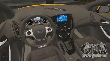 Ford Focus ST 2013 pour GTA 4 est une vue de l'intérieur
