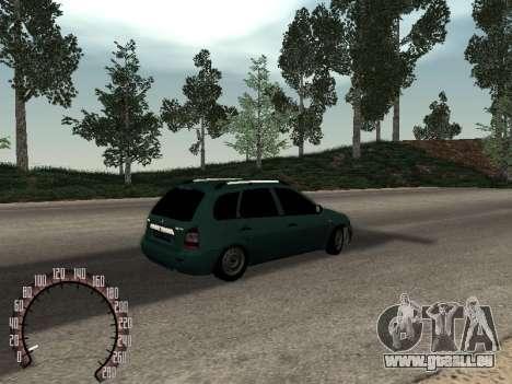 Lada 1117 Kalina für GTA San Andreas Rückansicht