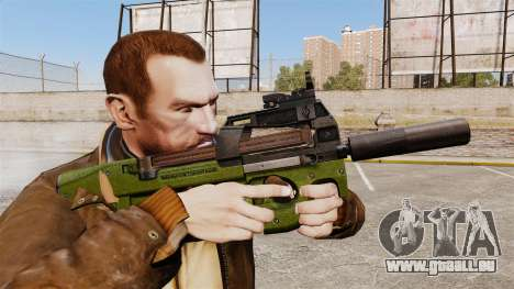 Belge FN P90 pistolet mitrailleur v2 pour GTA 4