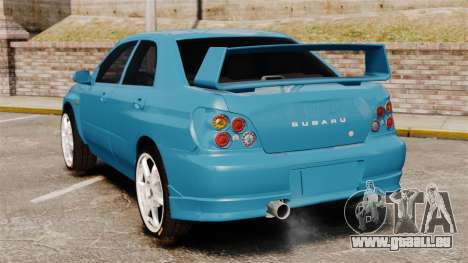 Subaru Impreza für GTA 4 hinten links Ansicht