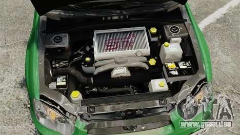Subaru Impreza 2005 DTD Tuned pour GTA 4 est une vue de l'intérieur