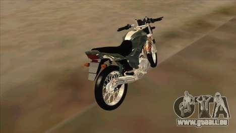 Yamaha YBR pour GTA San Andreas sur la vue arrière gauche