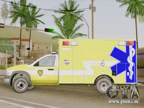 Dodge Ram Ambulance BCFD Paramedic 100 pour GTA San Andreas vue intérieure