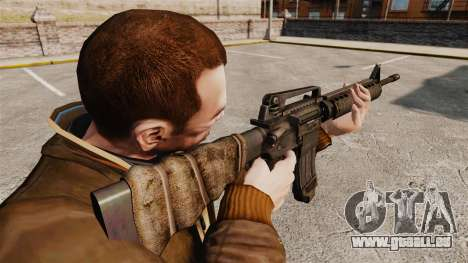 Un fusil d'assaut américain M16A4 pour GTA 4 secondes d'écran