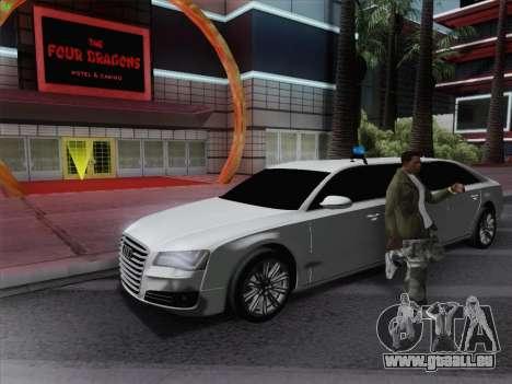 Audi A8 Limousine pour GTA San Andreas laissé vue