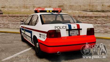 Luxemburg-Polizei für GTA 4 hinten links Ansicht