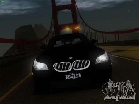 BMW M5 Hamann pour GTA San Andreas salon