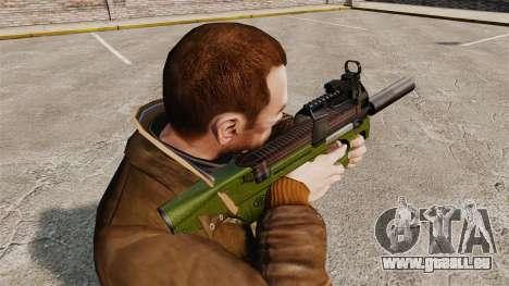 Belge FN P90 pistolet mitrailleur v2 pour GTA 4 secondes d'écran