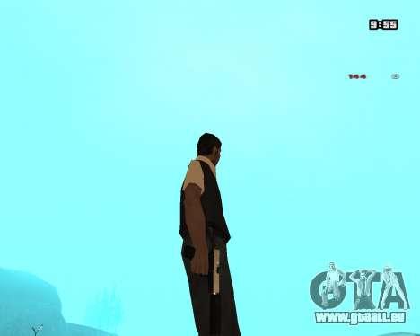 White Chrome Silenced pour GTA San Andreas troisième écran