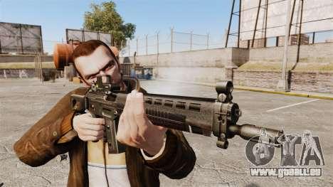 Fusil d'assaut SIG 551 pour GTA 4 troisième écran