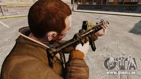 MP5SD mitraillette v4 pour GTA 4 secondes d'écran