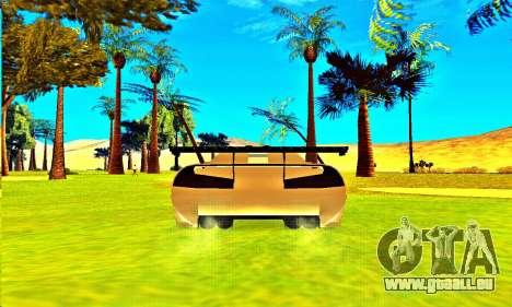 Infernus Rally Moster Energy 2012 für GTA San Andreas Rückansicht